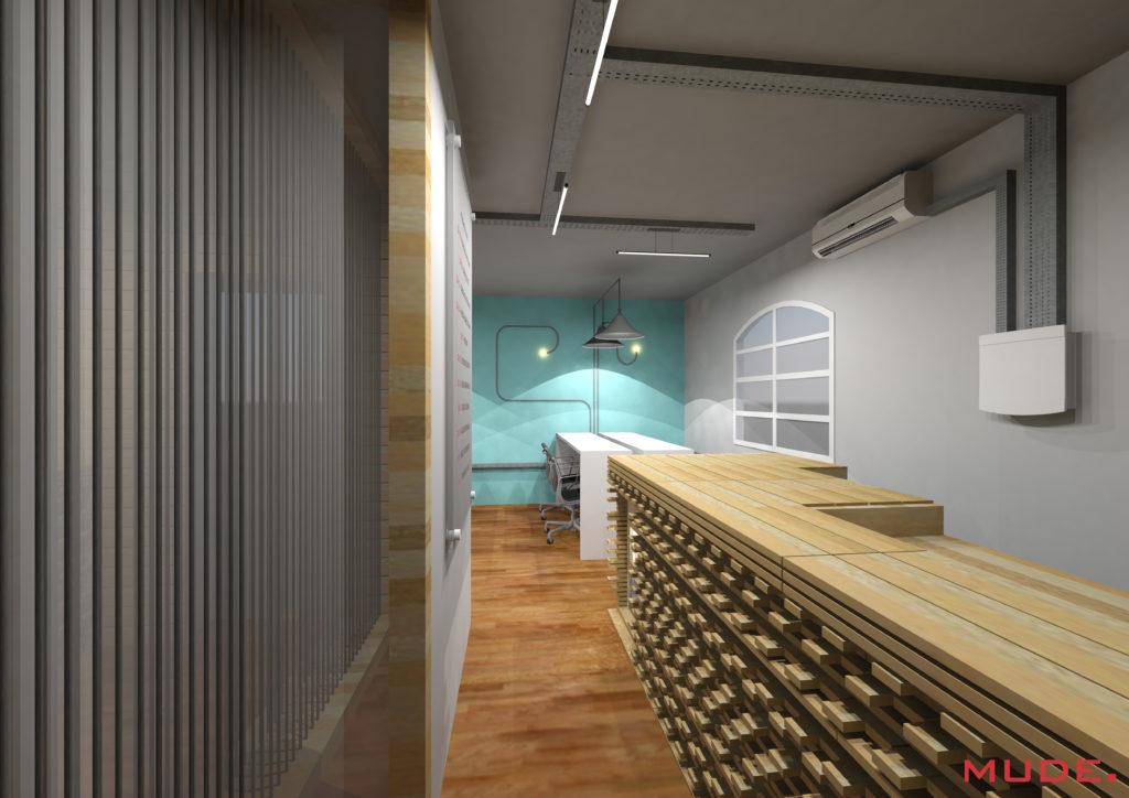 Projeto de Coworking realizado pela Mude. Arquitetura na cidade de Porto Alegre.