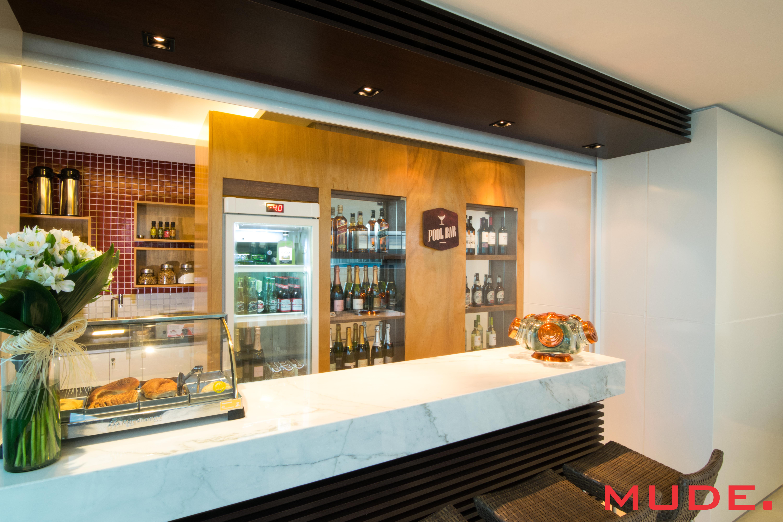 Projeto de interiores de um bar realizado pela Mude. em Porto Alegre